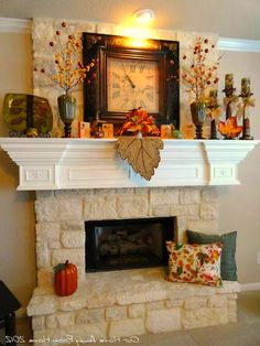Fall decorations Rustic Fall Home decor ideas #MantleDecor #mantledecor
