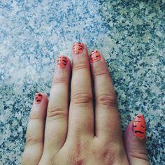 Tiger inspired nails