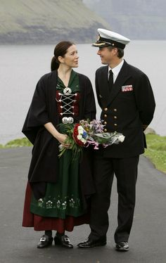 Crown Princess Mary and Crown Prince Frederik visiting the Faroe Islands in 2005.