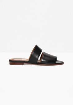 Leather Slippers | Black | & Other Stories