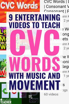 9 Entertaining Videos to Teach CVC Words with Music and Movement - Teaching CVC Words to new readers can be so much fun when you use a lot of different activities in - Kindergarten Lesson Plans, Kindergarten Reading, Teaching Reading, Teaching Time, Planning School, Speech And Language, Spanish Language, French Language, First Grade Reading