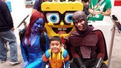 X-Men Mutant Family. Magneto, Mystique and little Wolverine.