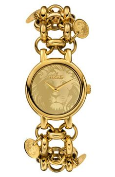 VERSUS by Versace 'Agadir' Embossed Dial Charm Bracelet Watch, 36mm available at #Nordstrom