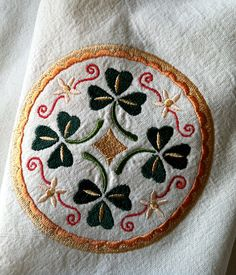 Pa Dutch Irish Hex Sign embroidered on kitchen by stitcherygiftery, $12.00