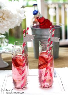 Strawberry Cocktail | Kim Byers, TheCelebrationShoppe.com