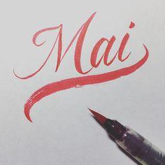 Mai  #pentel #red #japanese #girl #name