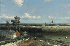 View of Haarlem, 1845 - 1848 - Johan Hendrik Weissenbruch Landscape Art, Landscape Paintings, The Joy Of Painting, Classic Paintings, Dutch Painters, Art Database, Museum Exhibition, Western Art, Vincent Van Gogh