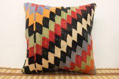 Throw kilim Pillow 16 x 16 Decorative Kilim by kilimwarehouse, $40.00