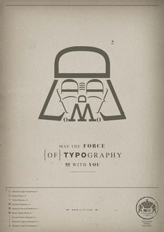 Star Wars typographic posters by the H-57 design studio, based in Milan