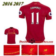 Les Nouveaux Maillot Liverpool FC FIRMINO 11 Domicile Rouge 2016 2017: fr-moinscher