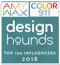 I'm thrilled to share with you that I along with my Color911 blog, were voted 23rd in the Top 100 Bloggers/Influencers by Designhounds!
