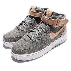 buy popular 320e8 42d75 Wmns Nike Air Force 1 07 Mid LTHR PRM Premium Wool Oatmeal Women AF1 857666-