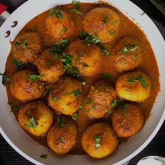 A Kashmiri classic featuring baby potatoes cooked in rich aromatic sauce Indian Veg Recipes, Vegetarian Recipes, Healthy Recipes, Nigerian Food Recipes, Mushroom Recipes Indian, Aloo Curry, Veg Curry, Kitchen Recipes, Cooking Recipes