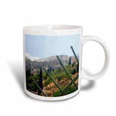 3dRose Acropolis Iiii Athens Greece, Ceramic Mug, 15-ounce