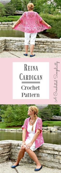 Crochet Pattern - Reina Cardigan by A Crocheted Simplicity