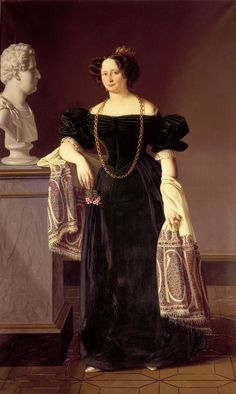 Louis Aumont (1805-1879)  —Caroline Amalie,  Queen of Denmark, 1830  : Rosenborg Castle, Copenhagen. Denmark : Rosenborg Castle, Copenhagen. Denmark (1737x2906)