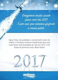 NONATO NOTÍCIAS: A Embasa te deseja Boas Festas e Feliz Ano Novo.