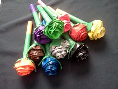 $20- washable marker bouquet. 10 markers. Each rose matches the ink color.