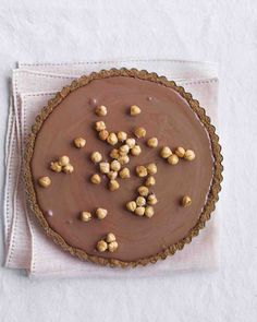 Chocolate Mousse Tart with Hazelnuts Recipe