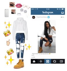 """""""Yeah, all of my diamonds they shine Haters like """"knock that off"""""""" by theyknowgrace ❤ liked on Polyvore featuring Timberland, Lime Crime, Native Union, Effy Jewelry and Links of London"""