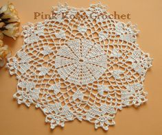 Pink Rose Crochet: Cups and Wipes Free Crochet Doily Patterns, Crochet Mat, Crotchet Patterns, Crochet Shoes, Thread Crochet, Filet Crochet, Lace Doilies, Crochet Doilies, Crochet Tablecloth
