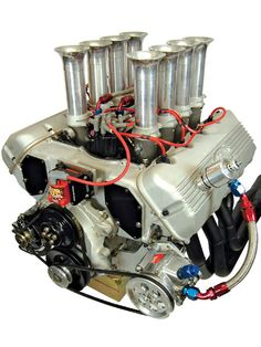 In this tech article HOT ROD shows you step-by-step how to build a Ford 427 SOHC Cammer engine using all new parts for classic NASCAR big-block power and sound in your musclecar - Hot Rod Magazine Motor Engine, Car Engine, Diesel Punk, Motor Wankel, Build A Ford, Performance Engines, Race Engines, Combustion Engine, Us Cars
