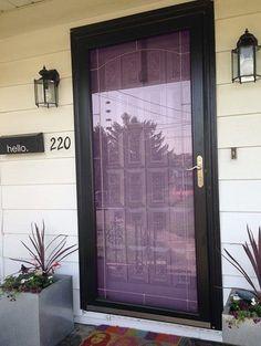 Purple Front Door Meaning, Paint Your Door Purple | Pretty Purple Door Purple Front Doors, Purple Door, Front Door Colors, Front Door Decor, Garage Door Styles, Garage Door Design, House Color Schemes, House Colors, Sectional Garage Doors