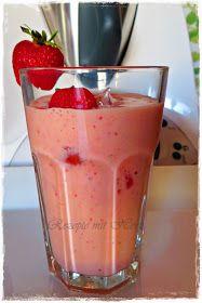Thermomix - Rezepte mit Herz : Erdbeer-Mango-Smoothie
