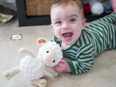 gratis free:Little Crochet Lamb This shop has been compensated by Collective Bias Inc. and its advertiser. All opinions are mine alone. #BearyMerryVTechMom#CollectiveBias CLICK HERE for the ad-free large print downloadable PDF pattern for $1.99!