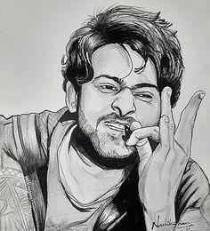 Realistic Pencil Drawings, Pencil Art Drawings, Art Drawings Sketches, Portrait Cartoon, Portrait Art, Portraits, Prabhas Actor, Pencil Sketch Portrait, Avengers Drawings