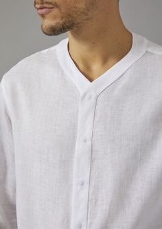 Fine materials and design for this Regular Fit Linen Shirt by Giorgio Armani Men. Gents Kurta Design, Boys Kurta Design, Shirt Collar Styles, Moda Formal, Mens Fashion Wear, Fashion Outfits, African Men Fashion, Designer Clothes For Men, Looks Style