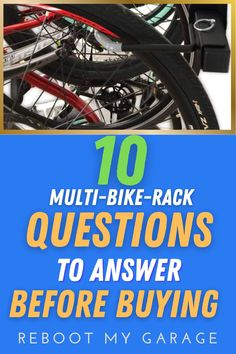 """To get the right bike rack, ask questions such as: """"Does the rack hold the right quantity of bikes?"""" Think about dismounting the bikes: """"Is there room to get the bike down from a full rack?"""" Think about the bike widths: """"Are the hooks adjustable so you can move the bikes left to right within the rack space?"""" Think about the bike tires: """"Do you need a rack that can handle fat tires, kids' bikes, or several heavy bikes?"""""""