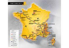 Carte du tour de france 2013