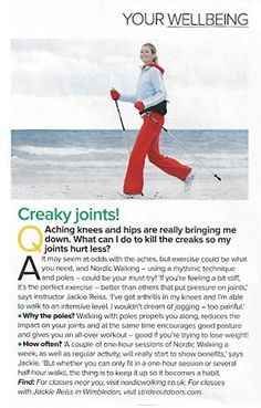 Magazine Article about the benefits of Nordic Walking Social Activities, Physical Activities, What Is Nordic, Aching Knees, Walking Poles, Benefits Of Walking, Nordic Walking, Walk Run, Walking Exercise