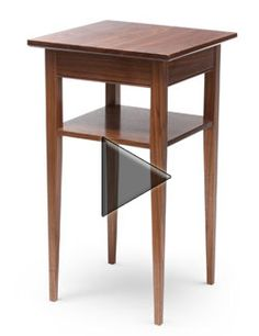 Build a walnut nightstand