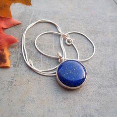 Lapis Lazuli pendant, Bezel set Pendant,sterling silver ,gemstone Pendant