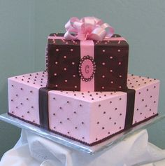 Bridal Shower Cake: Could do this in their wedding colors