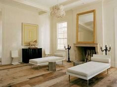living room fireplace decorating with wall mirror