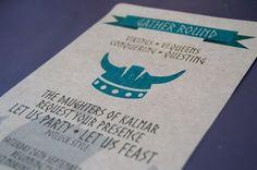 Viking Invitation Birthday Family Reunion by KelliforniaKrafts
