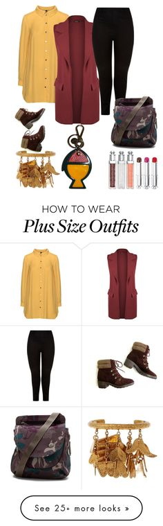"""plus size fall"" by aleger-1 on Polyvore featuring Manon Baptiste, WearAll, New Look, Haiku, Chloé and Prada"