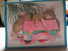 House-Mouse Designs® 3D card made by our good friend Laura, using House-Mouse decoupage paper found at the link below:  http://www.house-mouse.com/decoupage/