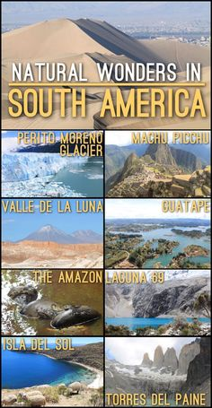 South America is home to some amazing nature. From the deserts of Peru to the mountains of Patagonia -- here are some of the best natural wonders in South America.