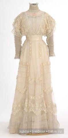 Чайное платье. Немного из истории моды. Антикварная кукла Хенрих Хандверк, Heinrich Handwerck / Винтажные антикварные куклы, реплики / Бэйбики. Куклы фото. Одежда для кукол