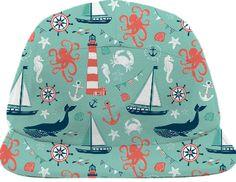 Nautical Aqua baseball hat from Print All Over Me
