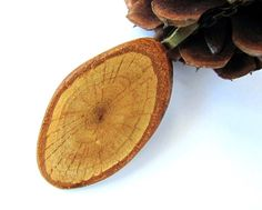Wood Necklace Eco Friendly Pendant Oak Branch by Hendywood on Etsy, $18.00