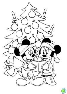 Mickey And Minnie Christmas Coloring Page from Cartoon Coloring Pages category. Find out more awesome coloring pages for your child Minnie Mouse Coloring Pages, Cartoon Coloring Pages, Disney Coloring Pages, Free Coloring Pages, Coloring Books, Natal Do Mickey Mouse, Minnie Mouse Christmas, Printable Christmas Coloring Pages, Christmas Coloring Sheets