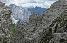 Summer view from Sass Pordoi, Trentino