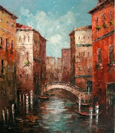 Venice Oil painting, love the texture, beautiful...