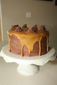 Reese chocolate peanut butter cake (no recipe)