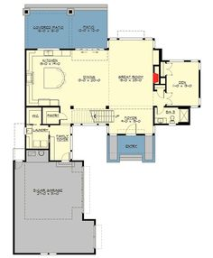 Trendy home design ideas floor plans bonus rooms Best House Plans, Modern House Plans, House Floor Plans, Architectural Design House Plans, Architecture Design, House Plans Mansion, Dream Mansion, Dream Houses, Open Floor